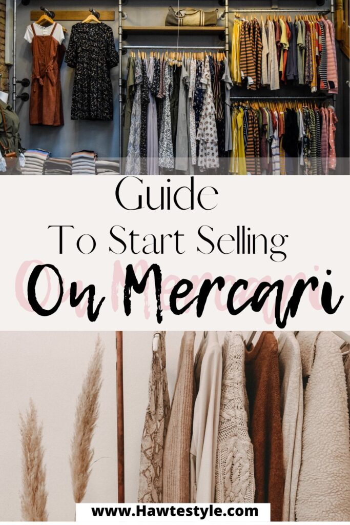 Guide for selling on Mercari. How To sell on Mercari.